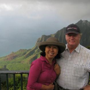 Choon James with Professor husband of 40 years.