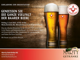 Degustation: Baarer Bier