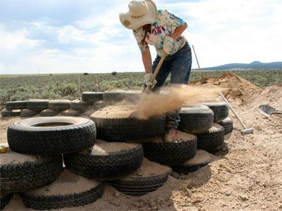 This is what it looks like when a tire is being 'pounded.'