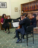 string quartet at Stammel String Fundrai