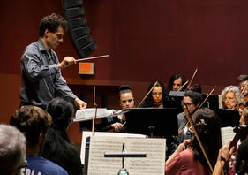 Maestro conducting WSO at Arlington High
