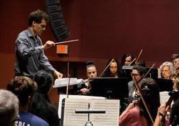 Maestro conducting WSO at Arlington High