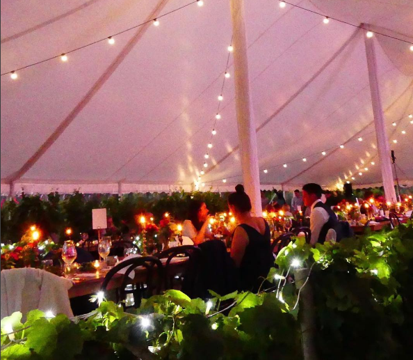 Beautiful marquee lighting