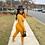Thumbnail: Mustard Crop Top 2pc Set