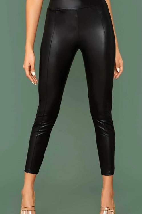Front Seam Leather Bottoms