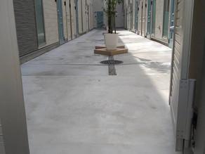 下井草 賃貸アパート 中庭、エントランス 施工