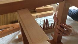 伝統工法木組体験イス