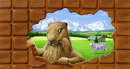 marmotte Milka