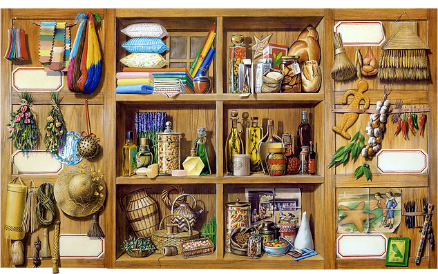 Illustration armoire, garde-manger