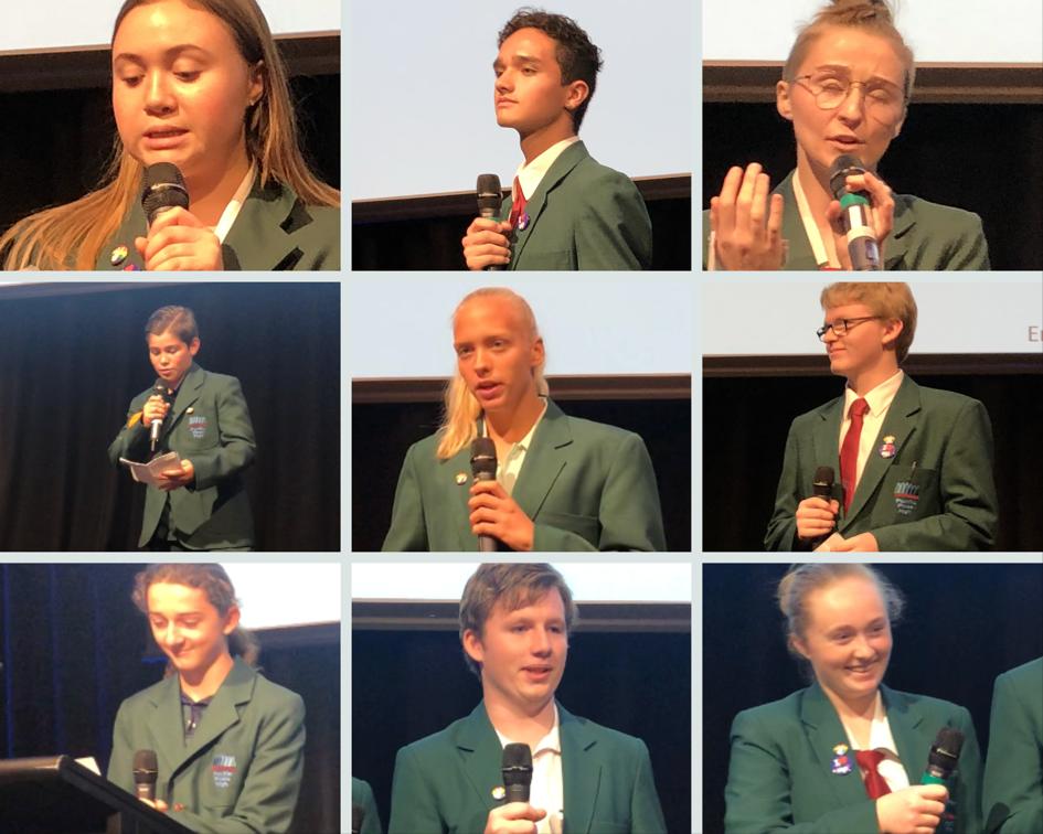 Kids speak at conference