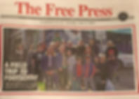 Front page of The Free Press. Tuesday 5