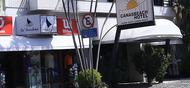 Fachada do Canasbeach Hotel