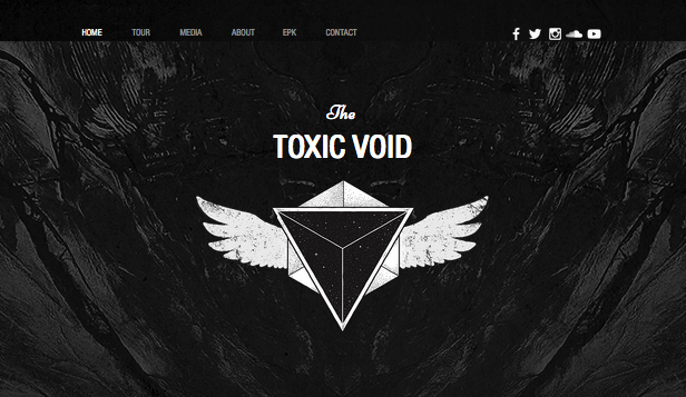Band website templates – Musica Rock