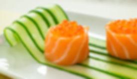 ikura gunkan with sake sashimi.jpg
