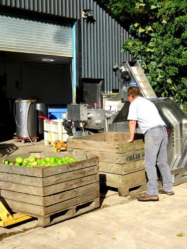 Preparing the bin tipper