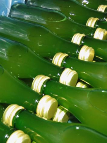 Filled bottles