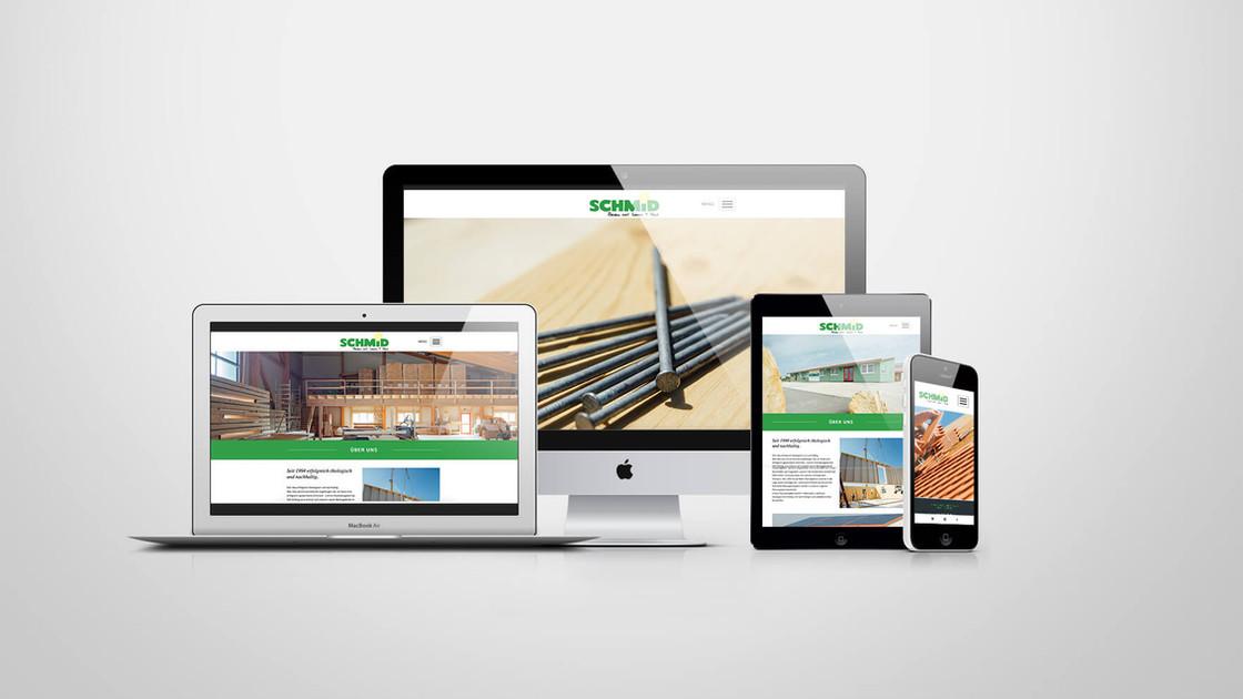 Zimmerei Schmid Webgestaltung
