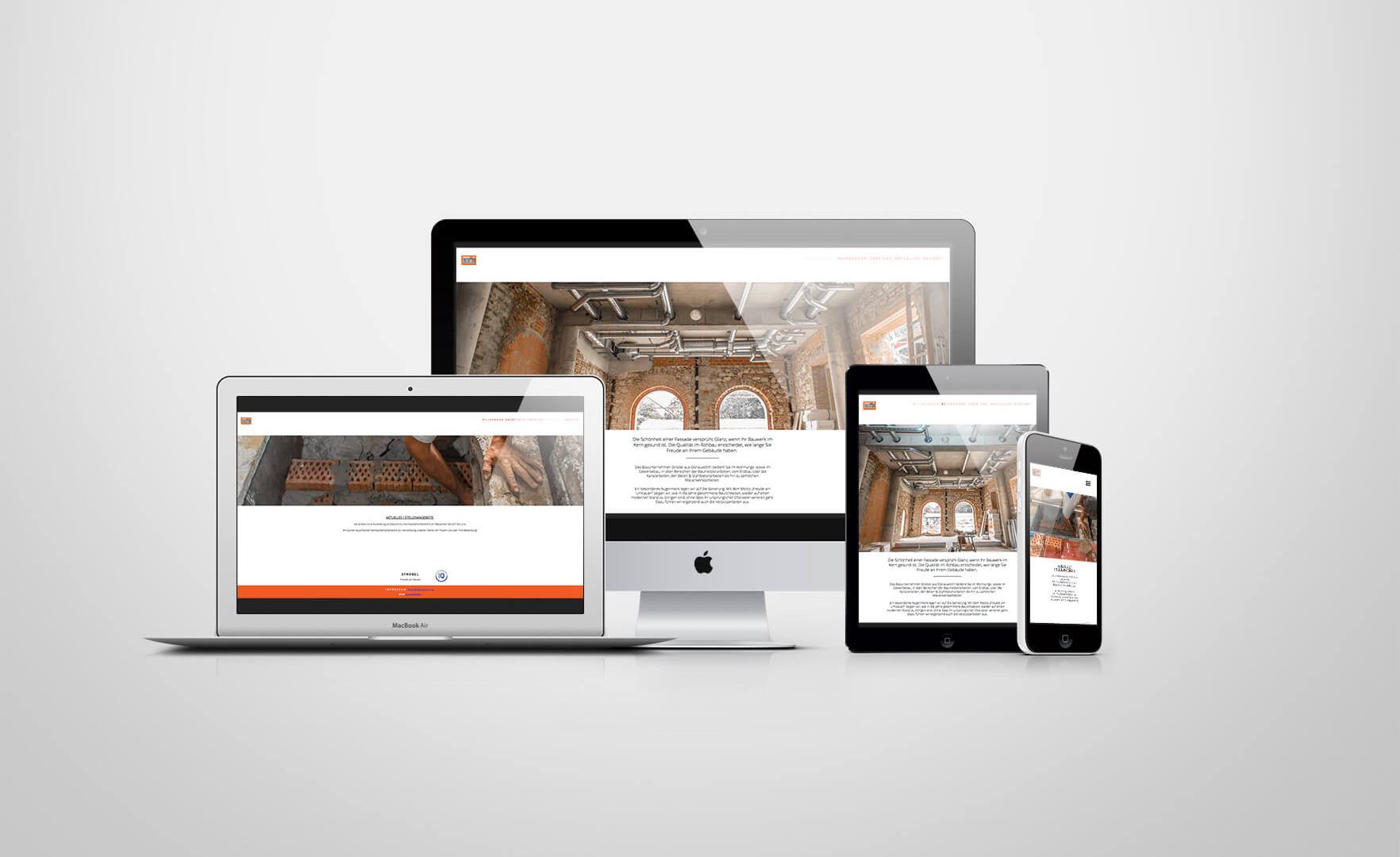 Strobel Bau Webdesign