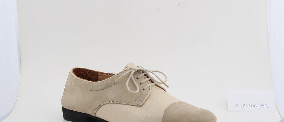 Beige Suede and Leather