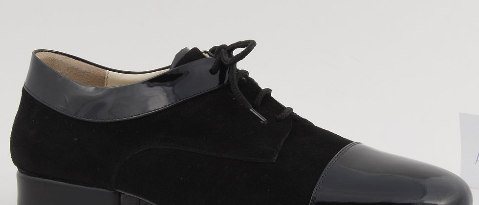 Black Suede & Leather