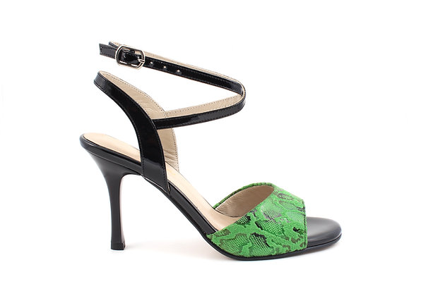 Green Snake with Black Ankle