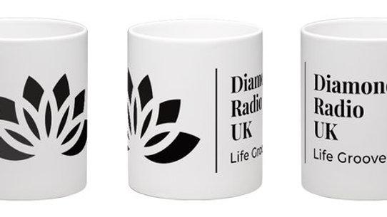 Black and White Diamond Radio Mug