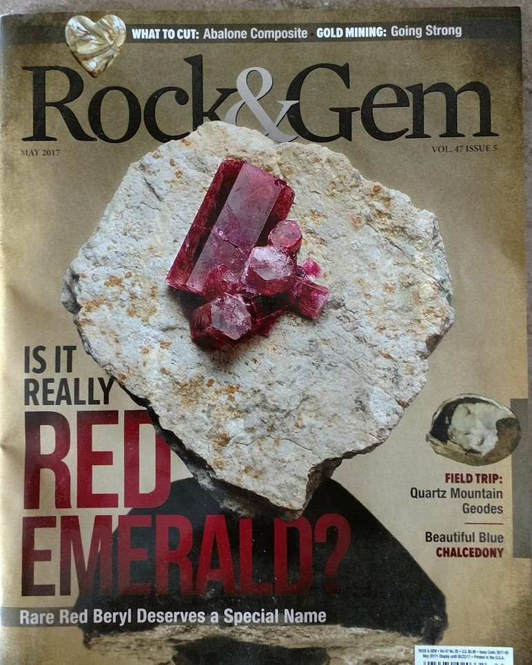 Rock & Gem Magazine May 2017 - Is It Really Red Emerald? by Bob Jones