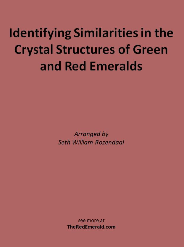 Identifying Similarities in the Crystal Structures of Green and Red Emeralds by Seth William Rozendaal