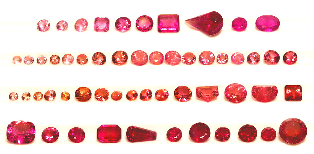 The Range of Red Emerald Color