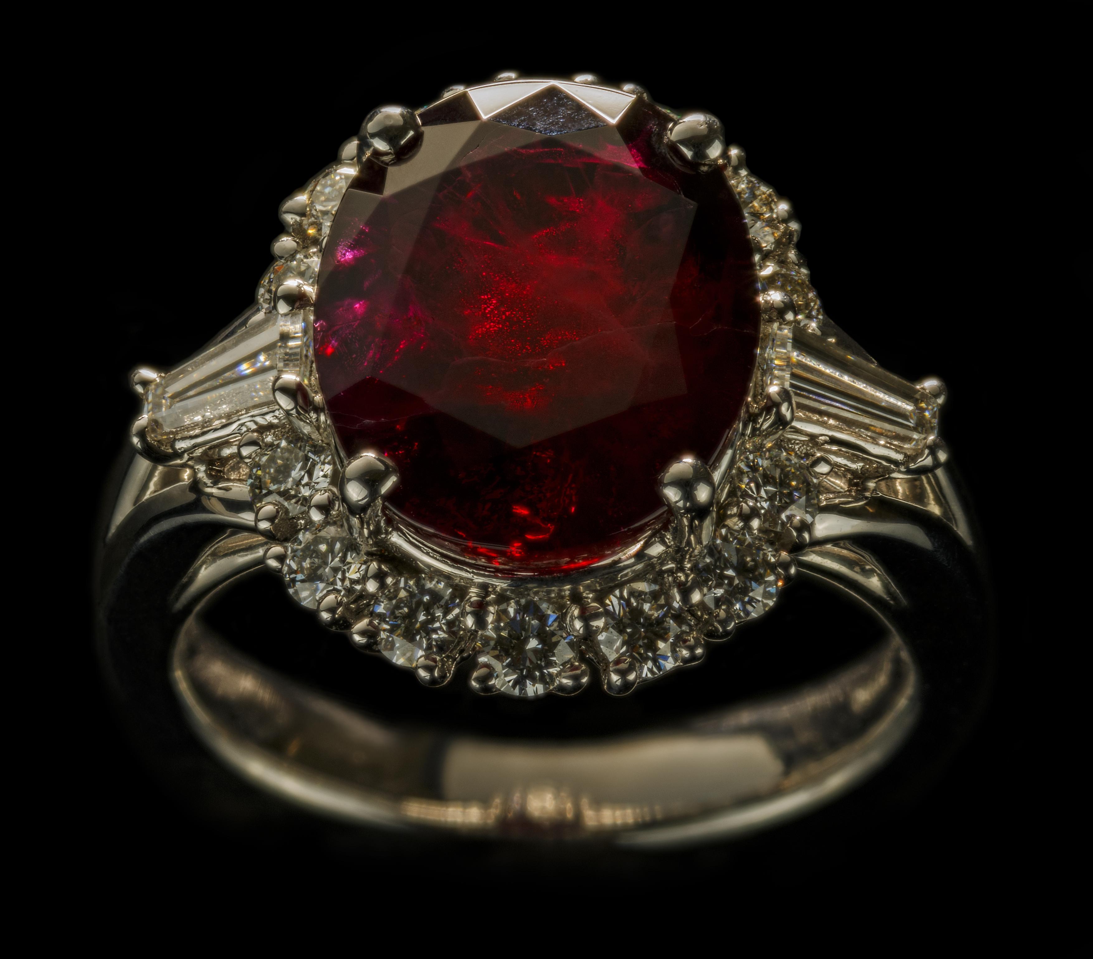 5.76 carat Red Emerald