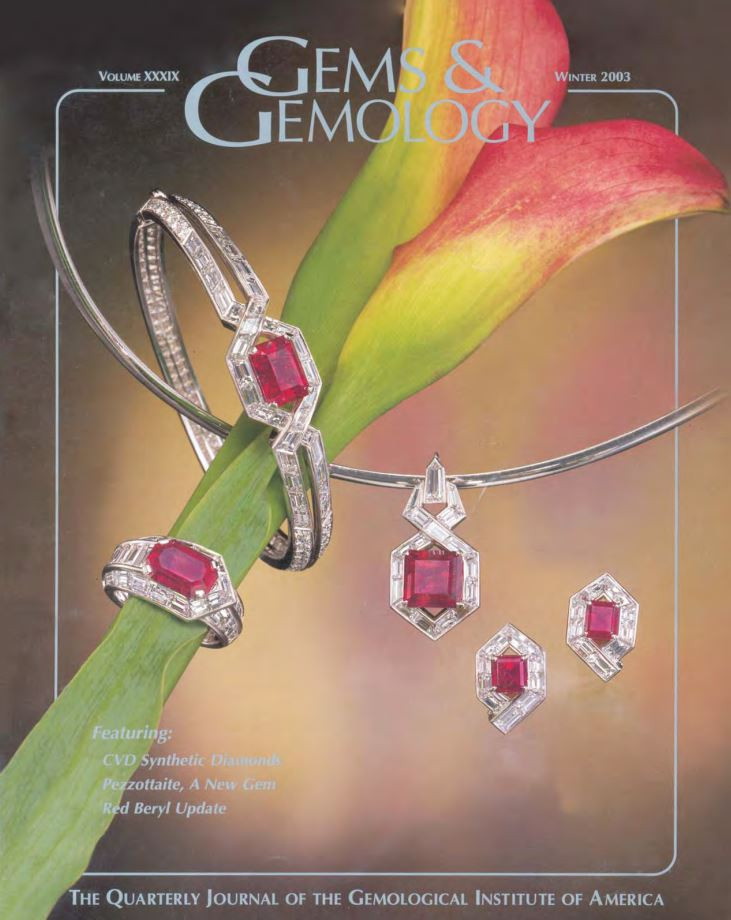 Gems & Gemology - Winter 2003 - Red Beryl from Utah by James Shigley, et al