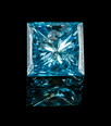 PRINCESS CUT SKY-BLUE DIAMOND