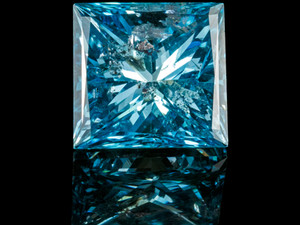 PRINCESS CUT SKY-BLUE DIAMOND