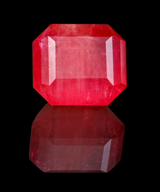 JOHN DYER-CUT UNENHANCED RED EMERALD