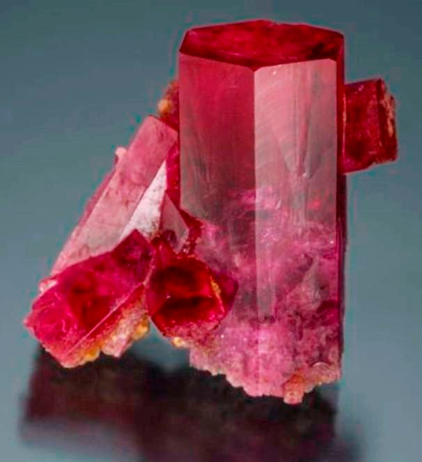 City Lights - A Phenomenal Red Beryl Complex Specimen From Los Angeles County