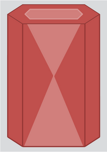 Hourglass Color Zone in a Beryl Prism