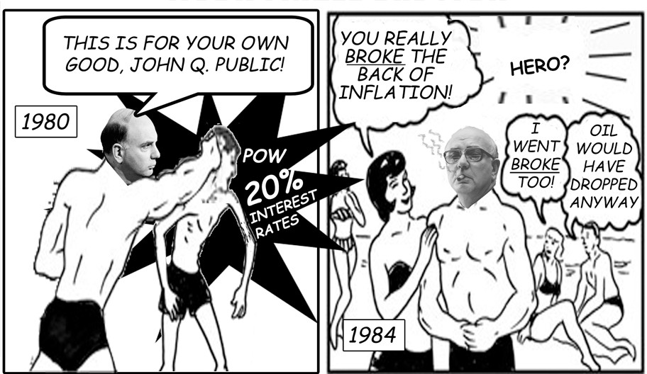 Paul Volker 1980 high interest rates funny stagflation