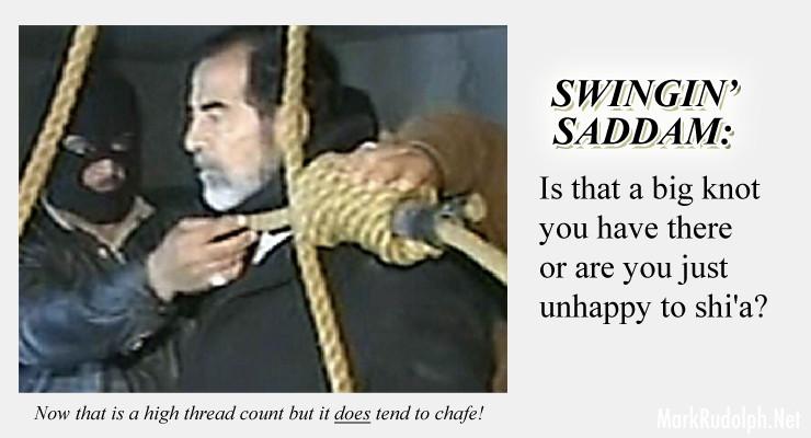 Saddam Hussein hang rope knot