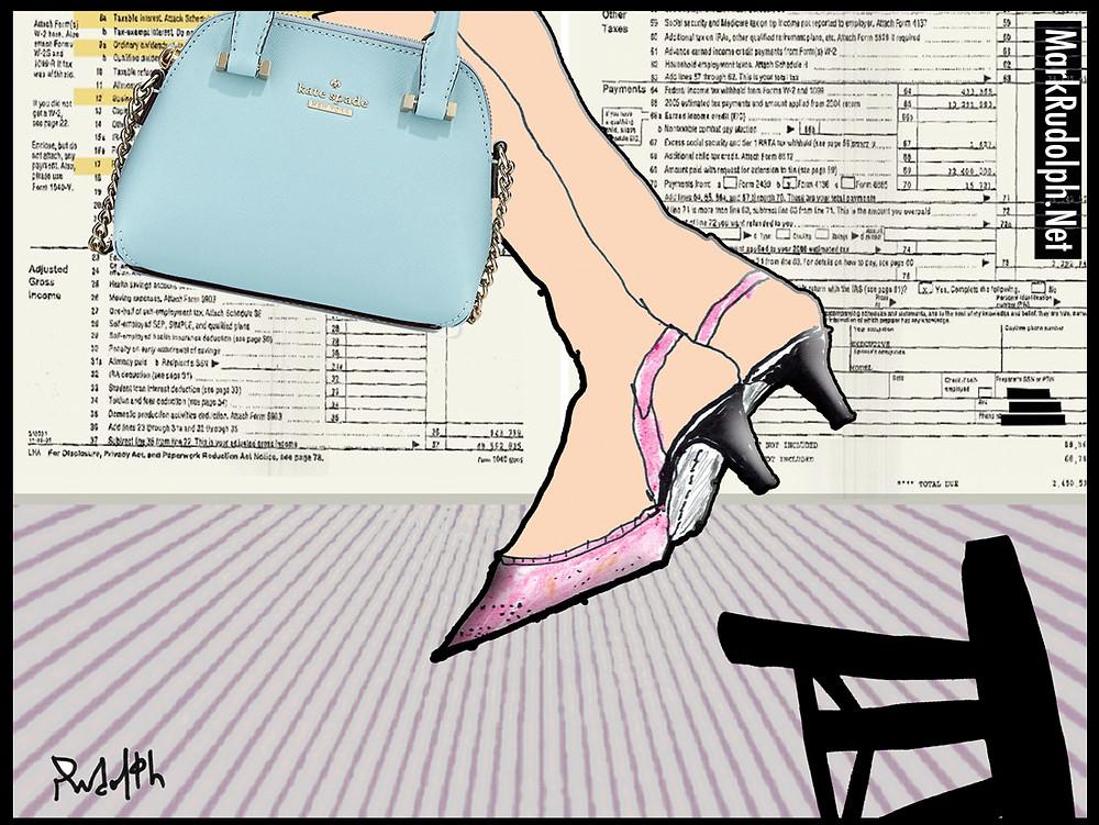 Kate Spade cartoon suicide satire mark rudolph.net
