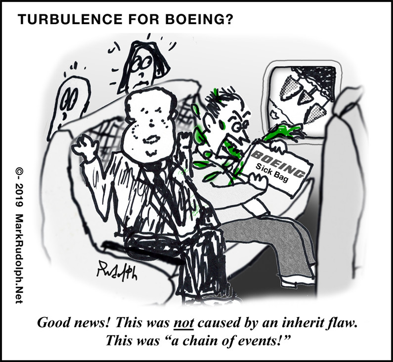 Boeing 737 Max vomit crash cartoon Mark Rudolph