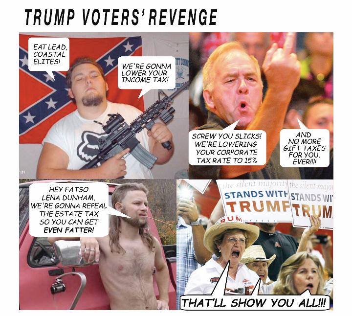 Trump moron voters tax cuts markrudolph.net