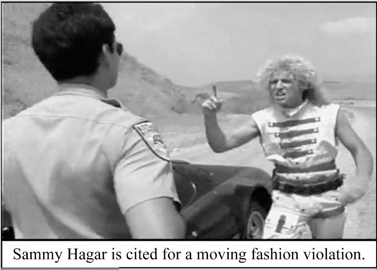 Sammy Hagar 55 fashion violation