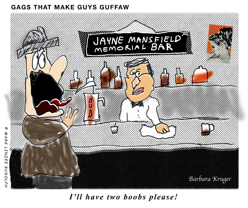 Jayne Mansfield Bar cartoon satire humor
