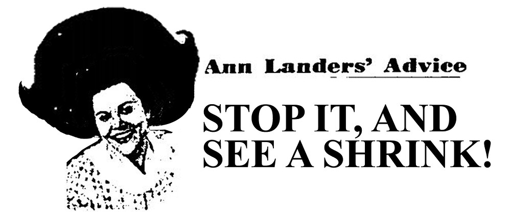 Ann Landers wig advice columnist hated abby mark rudolph.net