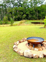 The outdoor fire pit