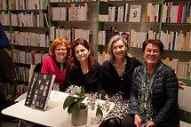 Natacha Sibellas, Anne de Amézaga, Cécilia Dutter & Michèle André à La Librairie des Femmes