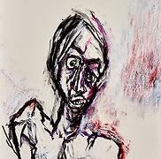 12 2017-020 Femme fusain pastel sur papi