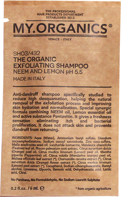 Sachet The Organic Exfoliting Shampoo