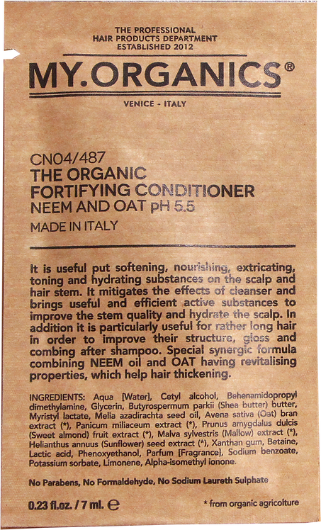 Sachet The Organic Fortifying Conditioner
