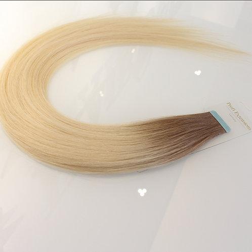 Double Color - Honey Blond Ash Light / Platinum | Minis | 45cm | 10 Stück/P